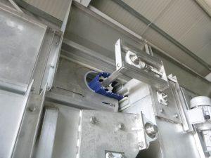 Fluidizálós fagyasztó légszekrény, futószalaggal